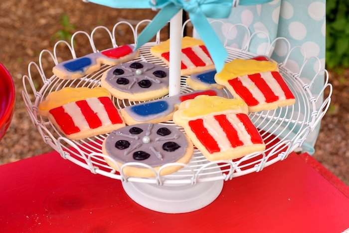Cinematic cookies from a Drive In Movie Night Birthday Party via Kara's Party Ideas | KarasPartyIdeas.com (14)