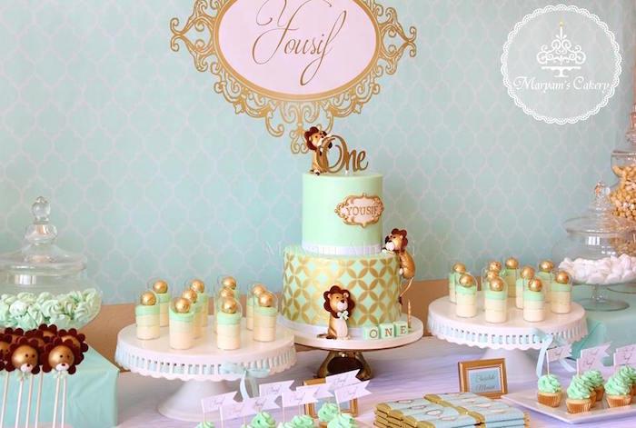 Elegant Baby Lion Birthday Party via Kara's Party Ideas | KarasPartyIdeas.com (3)