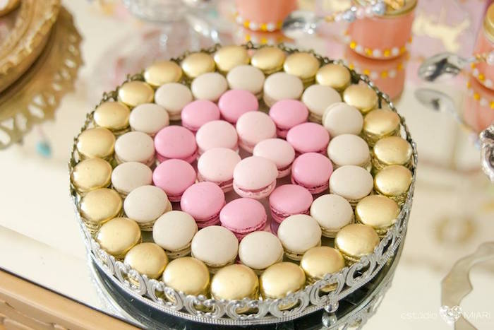 Mini macarons from an Enchanted Carousel Birthday Party on Kara's Party Ideas | KarasPartyIdeas.com (35)