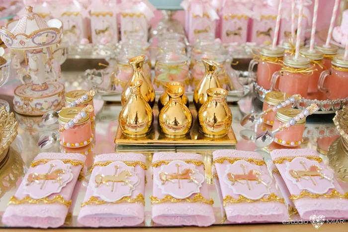 Favors + decor from an Enchanted Carousel Birthday Party on Kara's Party Ideas | KarasPartyIdeas.com (33)