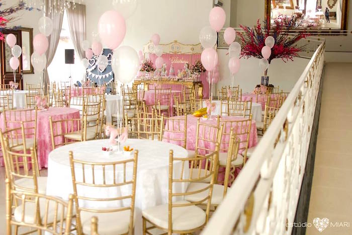 Guest tables + partyscape from an Enchanted Carousel Birthday Party on Kara's Party Ideas | KarasPartyIdeas.com (27)