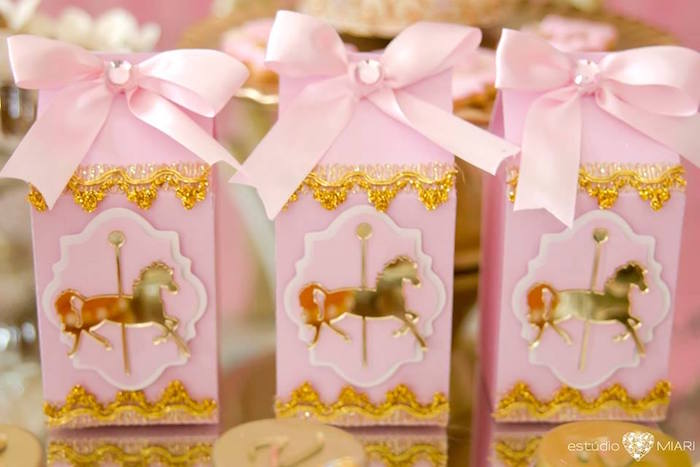 Carousel pony favor boxes from an Enchanted Carousel Birthday Party on Kara's Party Ideas | KarasPartyIdeas.com (16)