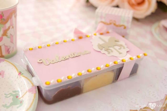 Custom food tray from an Enchanted Carousel Birthday Party on Kara's Party Ideas | KarasPartyIdeas.com (14)