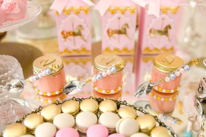 Favor jars from an Enchanted Carousel Birthday Party on Kara's Party Ideas | KarasPartyIdeas.com (50)