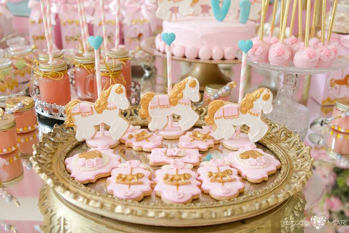 Carousel cookies from an Enchanted Carousel Birthday Party on Kara's Party Ideas | KarasPartyIdeas.com (11)