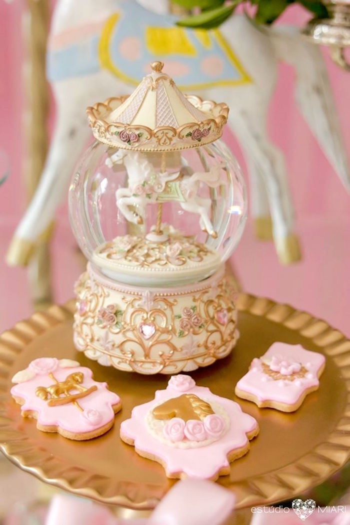Carousel cookies from an Enchanted Carousel Birthday Party on Kara's Party Ideas | KarasPartyIdeas.com (10)