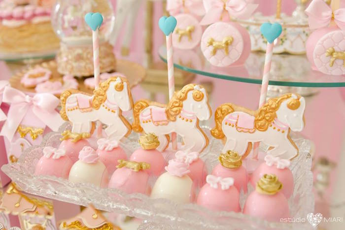 Carousel pony cookie pops and truffles from an Enchanted Carousel Birthday Party on Kara's Party Ideas | KarasPartyIdeas.com (48)
