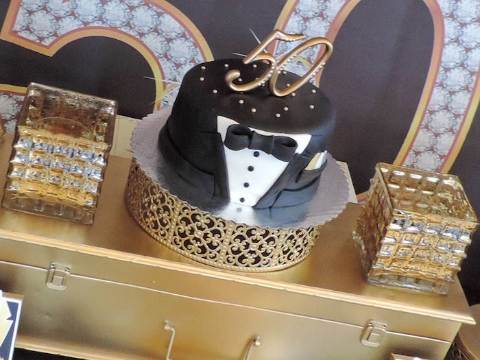 Cake From A Fabulous 50 Black Gold Birthday Party Via Karas Ideas
