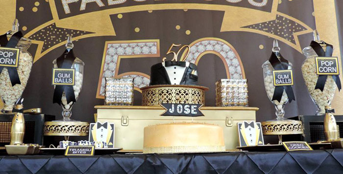 Fabulous 50 Black Gold Birthday Party Via Kara S Ideas Karaspartyideas Com