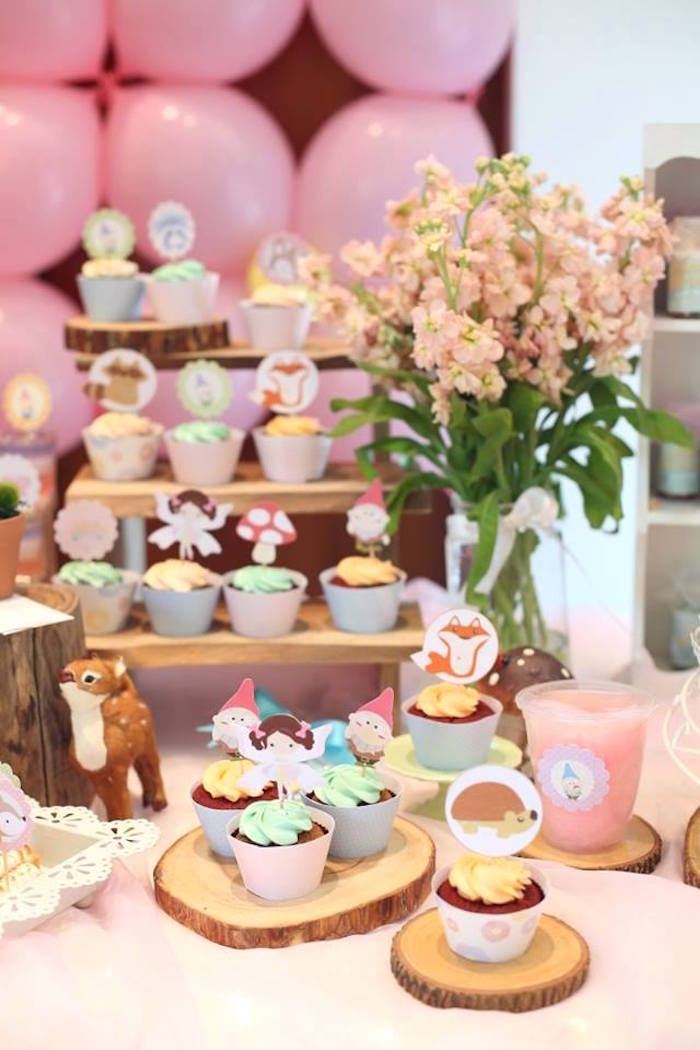 Cupcakes from a Fairy Garden Birthday Party on KarasPartyIdeas.com! Don't miss it! (5)