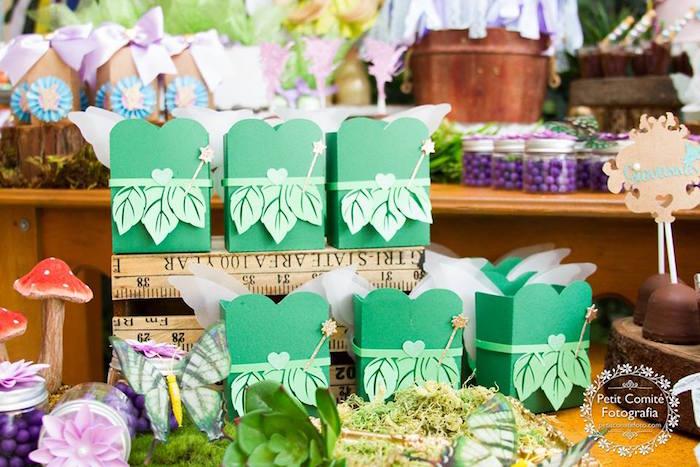 Fairy favor boxes from a Fairy Garden Birthday Party on Kara's Party Ideas | KarasPartyIdeas.com (39)