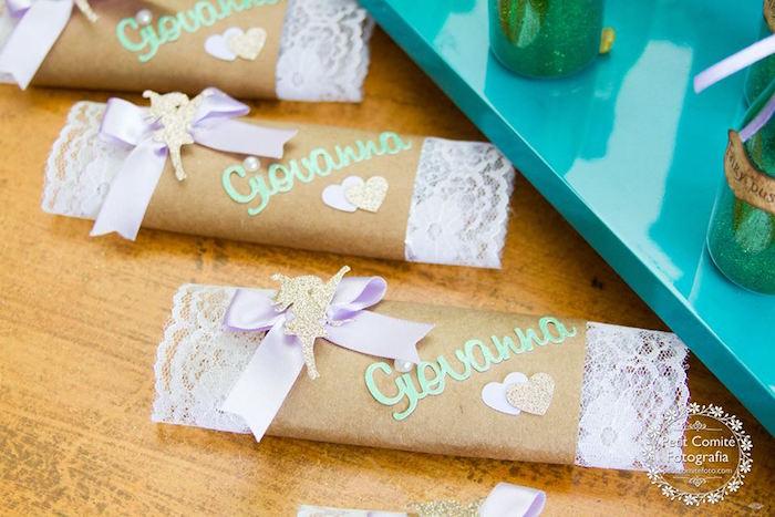 Custom woodland candy bar wrappers from a Fairy Garden Birthday Party on Kara's Party Ideas | KarasPartyIdeas.com (36)