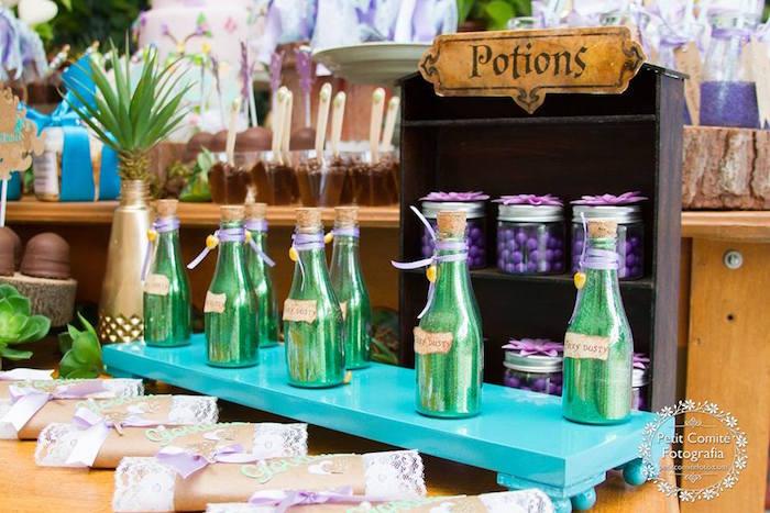Potions and fairy dust from a Fairy Garden Birthday Party on Kara's Party Ideas | KarasPartyIdeas.com (53)