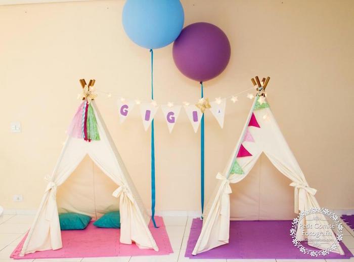 Teepees from a Fairy Garden Birthday Party on Kara's Party Ideas | KarasPartyIdeas.com (32)