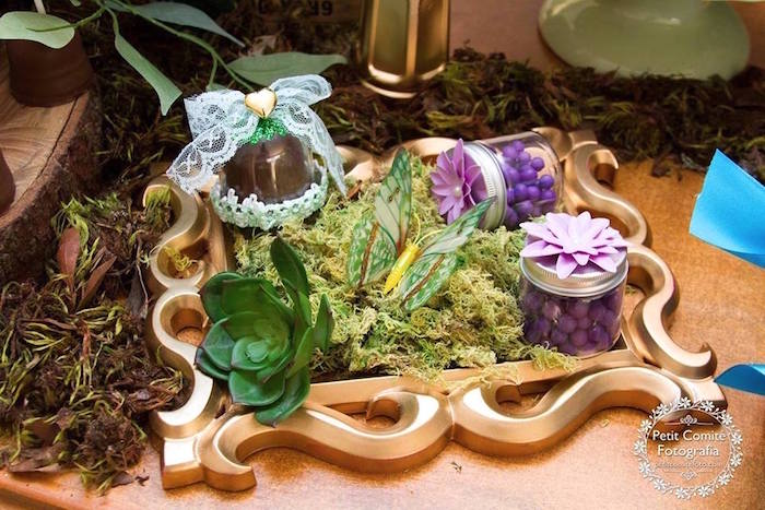 Woodland decor from a Fairy Garden Birthday Party on Kara's Party Ideas | KarasPartyIdeas.com (28)