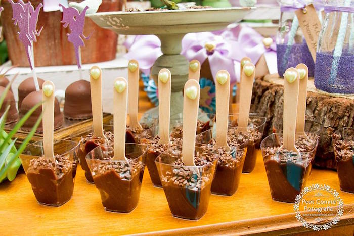 Dessert cups from a Fairy Garden Birthday Party on Kara's Party Ideas | KarasPartyIdeas.com (26)
