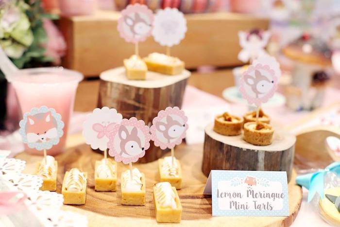 Lemon Meringue Mini Tarts Fairy Garden Birthday Party on KarasPartyIdeas.com! Don't miss it! (14)