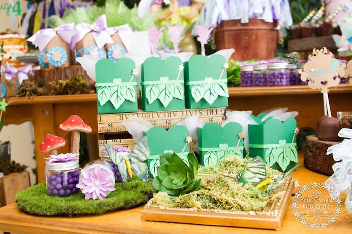 Fairy favor boxes from a Fairy Garden Birthday Party on Kara's Party Ideas | KarasPartyIdeas.com (24)