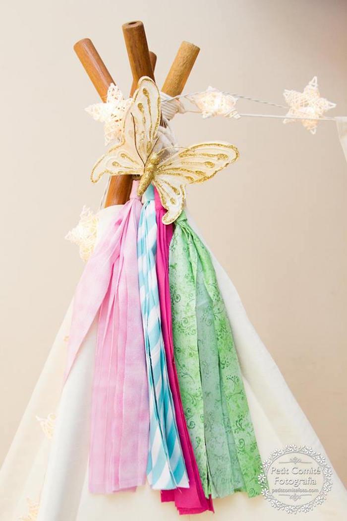 Teepee top bunting from a Fairy Garden Birthday Party on Kara's Party Ideas | KarasPartyIdeas.com (23)