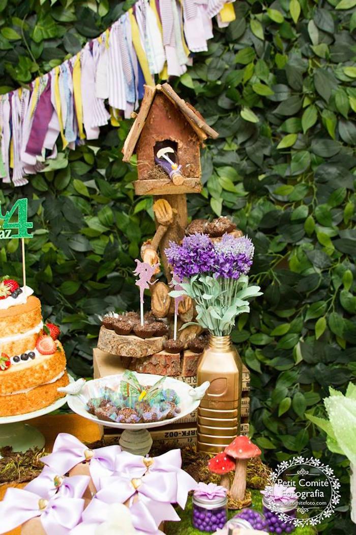 Fairy house from a Fairy Garden Birthday Party on Kara's Party Ideas | KarasPartyIdeas.com (22)
