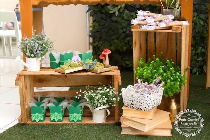 Table details from a Fairy Garden Birthday Party on Kara's Party Ideas | KarasPartyIdeas.com (21)