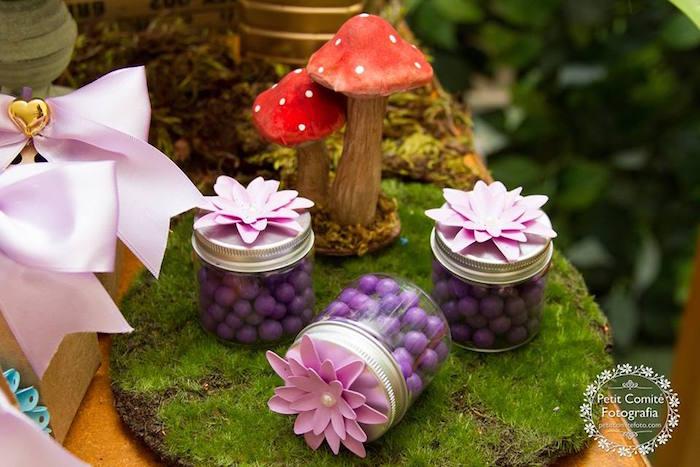 Favor jars from a Fairy Garden Birthday Party on Kara's Party Ideas | KarasPartyIdeas.com (19)