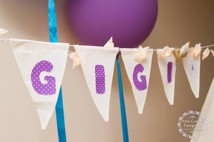 Pennant banner from a Fairy Garden Birthday Party on Kara's Party Ideas | KarasPartyIdeas.com (18)
