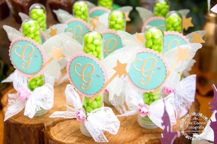 Fairy favor tubes from a Fairy Garden Birthday Party on Kara's Party Ideas | KarasPartyIdeas.com (17)