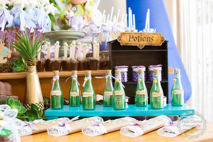 Fairy dust and potion favors from a Fairy Garden Birthday Party on Kara's Party Ideas | KarasPartyIdeas.com (15)