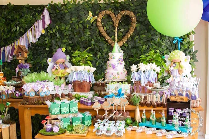Dessert table from a Fairy Garden Birthday Party on Kara's Party Ideas | KarasPartyIdeas.com (9)