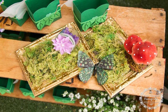 Woodland decor from a Fairy Garden Birthday Party on Kara's Party Ideas | KarasPartyIdeas.com (8)