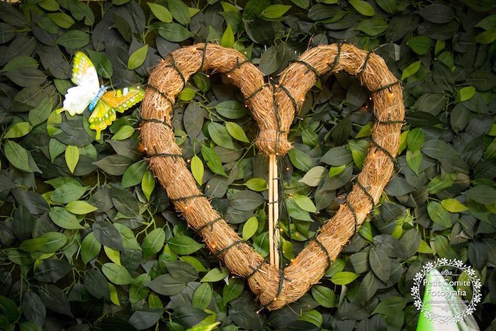 Heart wreath from a Fairy Garden Birthday Party on Kara's Party Ideas | KarasPartyIdeas.com (6)