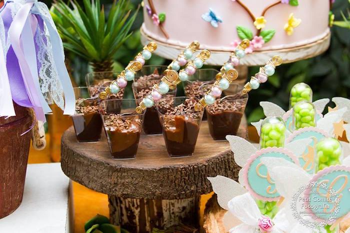 Dessert cups from a Fairy Garden Birthday Party on Kara's Party Ideas | KarasPartyIdeas.com (50)