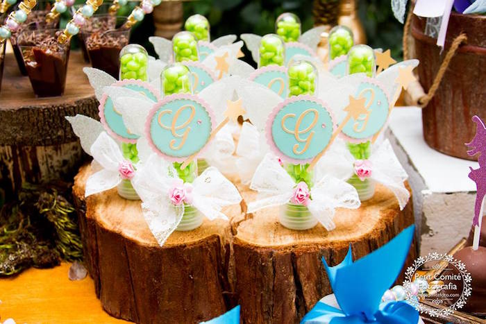 Fairy favor tubes from a Fairy Garden Birthday Party on Kara's Party Ideas | KarasPartyIdeas.com (49)