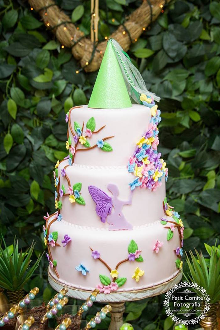 Fairy garden cake from a Fairy Garden Birthday Party on Kara's Party Ideas | KarasPartyIdeas.com (46)