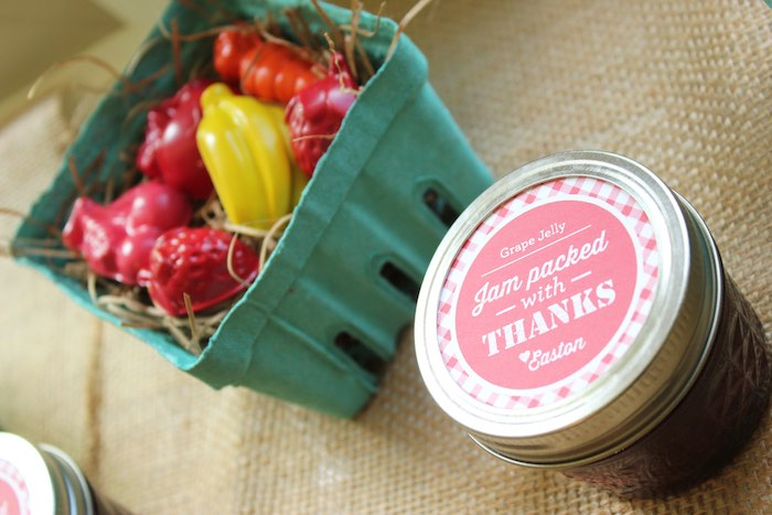Favors from a Farmers Market 1st Birthday Party on Kara's Party Ideas | KarasPartyIdeas.com (27)