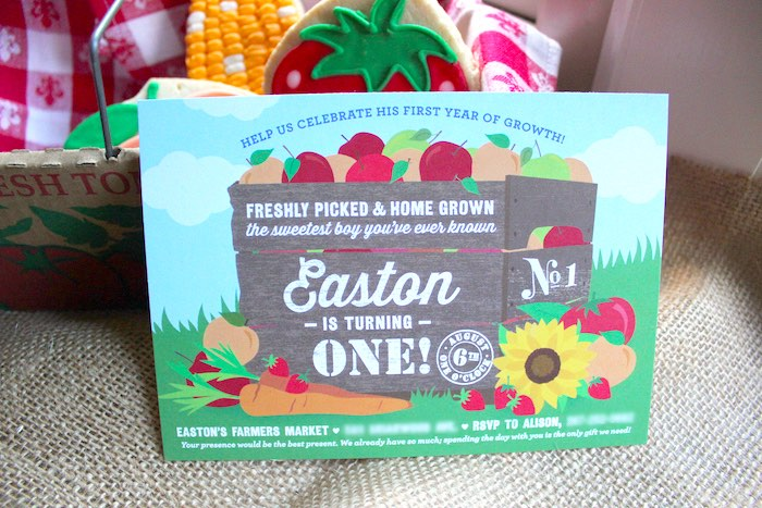 Farmer's Market invitation from a Farmers Market 1st Birthday Party on Kara's Party Ideas | KarasPartyIdeas.com (5)