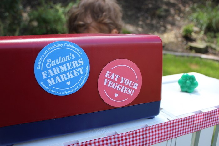 Party signage from a Farmers Market 1st Birthday Party on Kara's Party Ideas | KarasPartyIdeas.com (43)