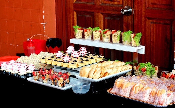Food Table From A Firefighter Birthday Party Via Karas Ideas