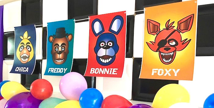 Five Nights At Freddy's Birthday Party on Kara's Party Ideas | KarasPartyIdeas.com (1)