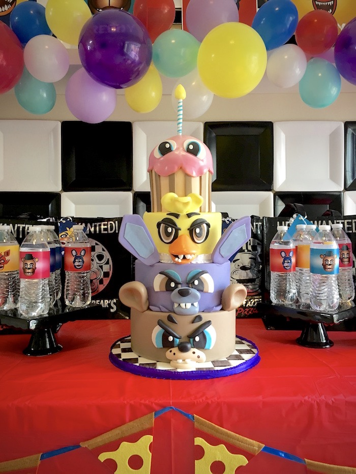 Five Nights At Freddy's Cake from a Five Nights At Freddy's Birthday Party on Kara's Party Ideas | KarasPartyIdeas.com (20)