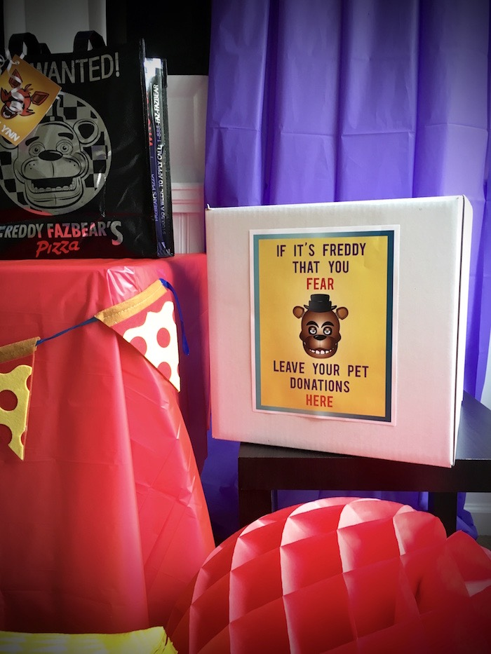 Party signage from a Five Nights At Freddy's Birthday Party on Kara's Party Ideas | KarasPartyIdeas.com (18)