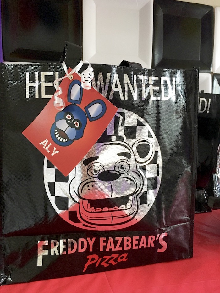 Gift Bag From A Five Nights At Freddys Birthday Party On Karas Ideas