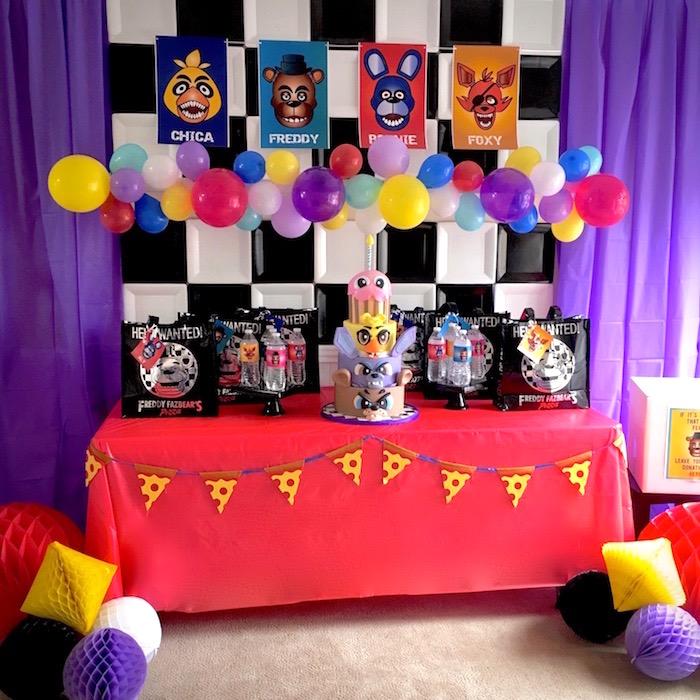 Five Nights At Freddy's Birthday Party on Kara's Party Ideas | KarasPartyIdeas.com (14)