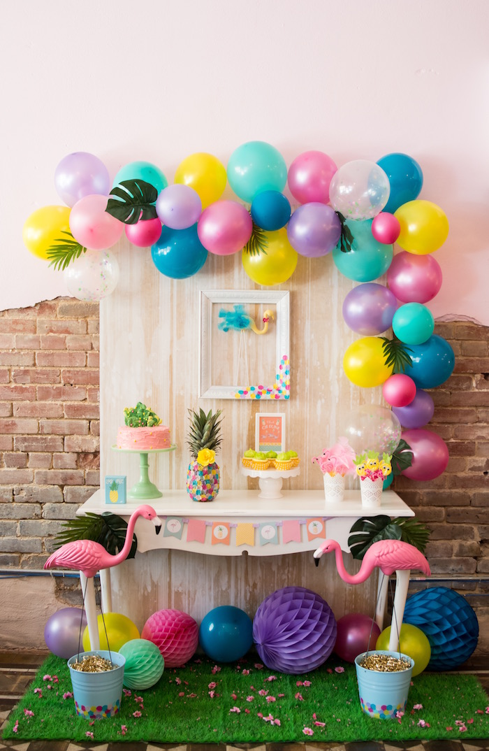 Flamingo dessert table from a Flocks of Flamingos Birthday Party via Kara's Party Ideas | KarasPartyIdeas.com (19)