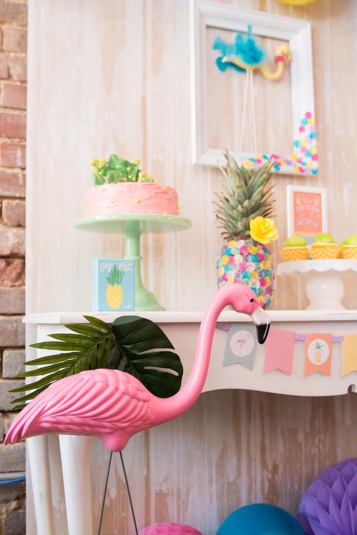 Flocks of Flamingos Birthday Party via Kara's Party Ideas | KarasPartyIdeas.com (18)
