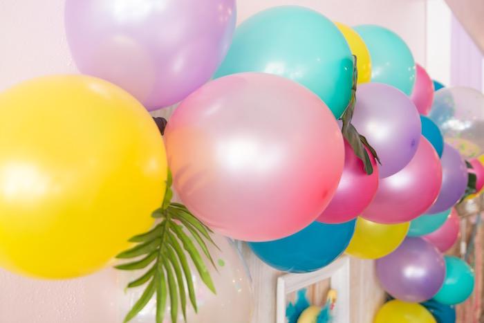 Balloon arch from a Flocks of Flamingos Birthday Party via Kara's Party Ideas   KarasPartyIdeas.com (32)