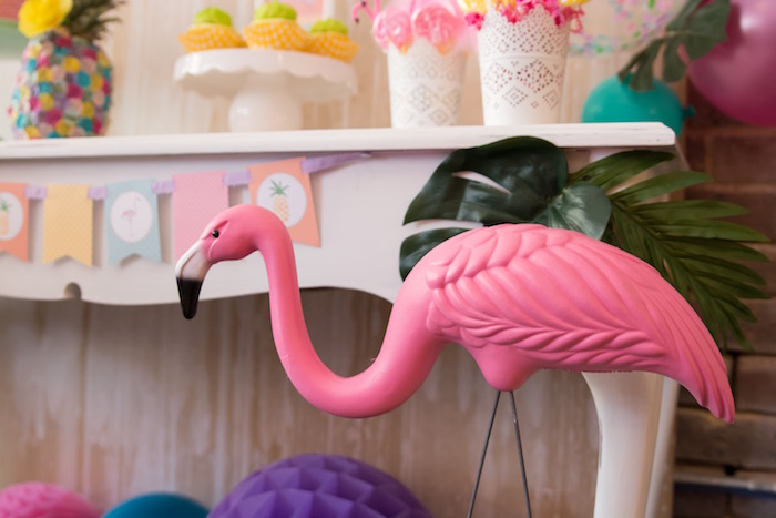 Flamingo from a Flocks of Flamingos Birthday Party via Kara's Party Ideas | KarasPartyIdeas.com (10)