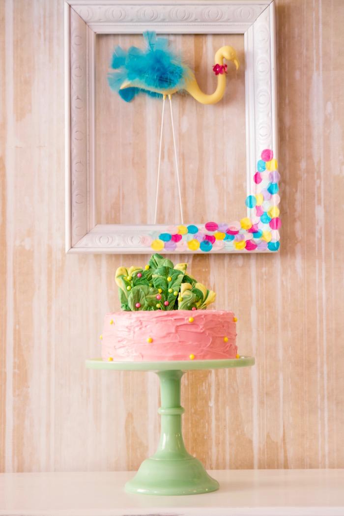 Cakescape from a Flocks of Flamingos Birthday Party via Kara's Party Ideas | KarasPartyIdeas.com (31)