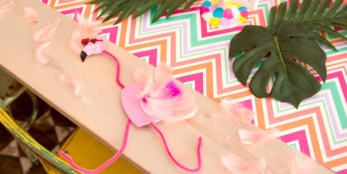 Flocks of Flamingos Birthday Party via Kara's Party Ideas | KarasPartyIdeas.com (1)